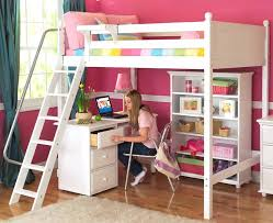 Modern Bunk Bed With Desk Modern Loft Bed Cafedream Info