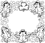 Friends Across America - Free Printable Coloring Page - Happy St ... friendsacrossamerica.com