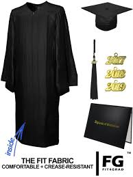 black graduation cap and gown shiny black cap gown tassel diploma cover set rs4251465611423