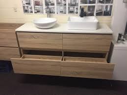 White Oak Bedroom Chest Of Drawers Siena 1500mm White Oak Timber Wood Grain Bathroom Vanity With