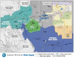 Map Of Pueblo Colorado by Water Sources City Of Aurora