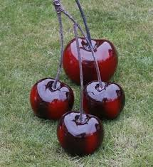 contemporary gloss cherry ornament sculpture available to purchase