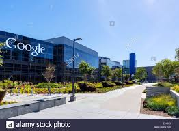 Office Google Google Head Office Campus Mountain View California Usa Stock