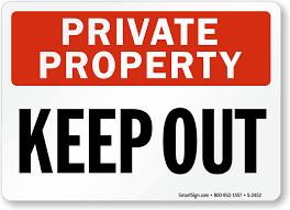 property sign keep out sign sku s 2452