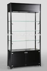 glass cabinet black gloss mdf display glass cabinet swc1000tc buy hobby shop