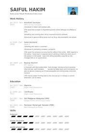 Food Prep Resume Example by Surveyor Resume Samples Visualcv Resume Samples Database
