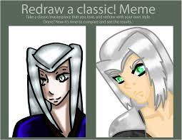 Sephiroth Meme - redraw meme sephiroth by sawako1826 on deviantart