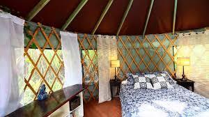 Living In A Yurt by Furnished 16 U0027 Yurt Ohana Yurts In Hawaii Youtube