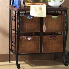 Bakers Racks With Drawers Kitchen Pantry Bakers Rack With 4 Wicker Drawers Home Jumbo