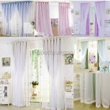 voilage chambre adulte 2 en 1 rideau voilage à œillets fenêtre pour chambre enfant adulte