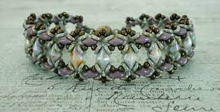 bracelet beads pattern images Linda 39 s crafty inspirations free beading pattern bluebell bracelet jpg