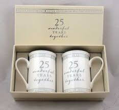 wedding gift anniversary 25th anniversary gift set of 2 china mugs mr right mrs always