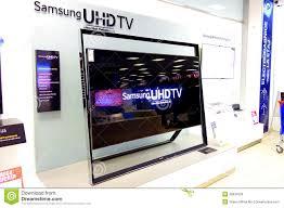 display tv samsung uhdtv television editorial stock photo image of electronics