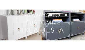 ikea hack besta cabinet two ways youtube