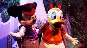 Halloween Devils Birthday vampire mickey mouse and devil donald duck characters halloween