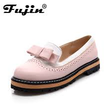large size 2016 autumn fall fashion women flats loafers dress
