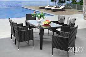 Glass Top Patio Dining Table Cavendish Rectangular Patio Dining Table In Espresso Synthetic Weave W