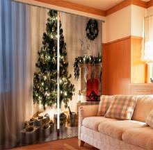 popular christmas window curtains buy cheap christmas window
