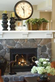 How To Decorate A Stone how to decorate a fireplace mantel for spring love the wooden