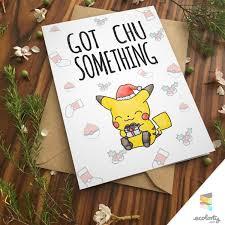 pikachu christmas card love pokemon go greeting card i choose