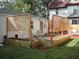 Privacy Trellis Ideas by Garden Planters With Trellis Home Outdoor Decoration