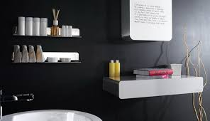 black and white bathroom decor ideas simple black bathroom decor with wall paint white sink and