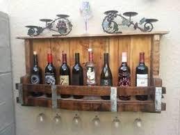 rustic wine barrel bottle glass rack pallet wine rack handmade