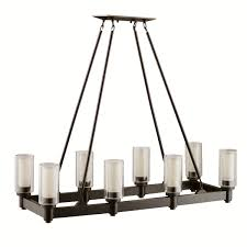 kichler 2943oz eight light linear chandelier chandeliers