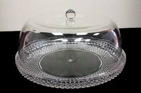 cake stand with cover diamondware acrylic plastic cake plate with dome lid