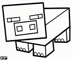 coloring pages minecraft pig minecraft pig online coloring page geek crafts pinterest geek