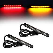 led light strip turn signal universal flexible motorcycle led light strip rear tail brake stop