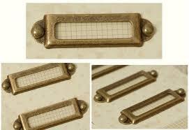 file cabinet label holders antique brass finish label holders handmade metal label frames for