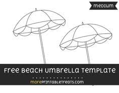 free beach umbrella template large shapes and templates