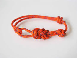 make bracelet from rope images Rope bracelet unisex figure 8 rock climbing bracelet orange jpg