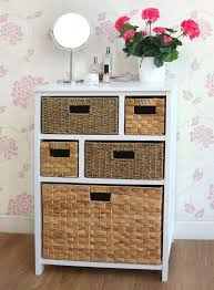 Bathroom Shelf Unit Bathroom Cabinets Bathroom Towel Storage Wicker Storage Cabinet
