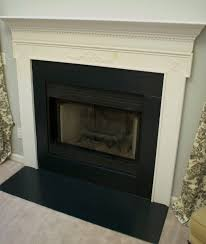 Black Paint For Fireplace Interior Cool Black Painted Fireplace Interior Design Ideas Contemporary In