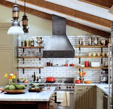 excellent industrial brick kitchen come with red bricks wall color