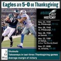 eagles cowboys thanksgiving day history bootsforcheaper
