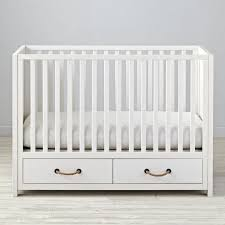Mini Crib With Storage Wonderful Bedroom Mini White Crib Design Ideas With Two Drawer