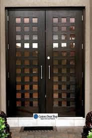 Hurricane Exterior Doors Unique Contemporary Front Door With Grid Design Mahogany