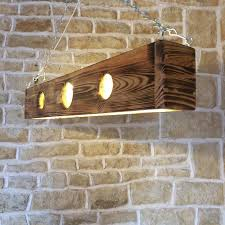 Unusual Light Fixtures - long ceiling light light pendant wooden light fixture wood
