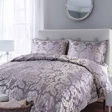 gallery parisian house glamour jacquard grey duvet set