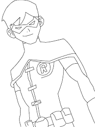 printable young justice coloring pages with to print inside