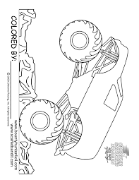 monster truck coloring page printable fun activities for kids