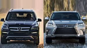 lexus lx450 vs land cruiser 2016 mercedes benz gl class vs lexus lx 570 youtube