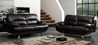 Sofa Sets Leather Modern Samara 3 2 Seater Black Of Brown Leather Sofa Set