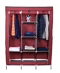 clothes cupboard kurtzy collapsible clothes storage wardrobe cupboard closet with 6