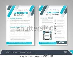 front back page brochure template flyer stock vector 461391724