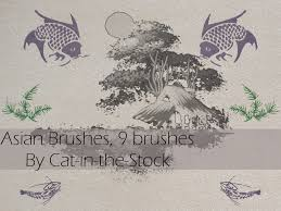 asian designs brushes by cat in the stock on deviantart
