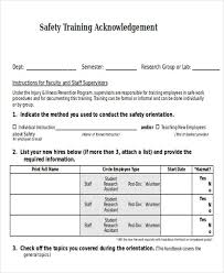 training acknowledgement letter templates 5 free word pdf